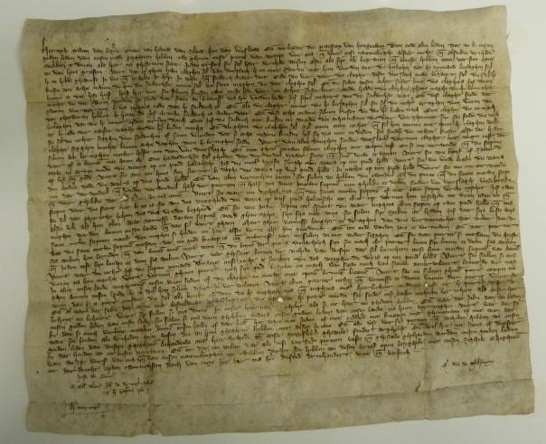 De stadsrechten van Weesp, gedateerd 20 mei 1355 te Dordrecht